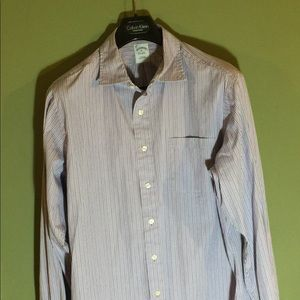 Brooks Brothers XL slim fit purple pinstripe shirt